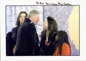 Patricia Treacy with Bill Clinton